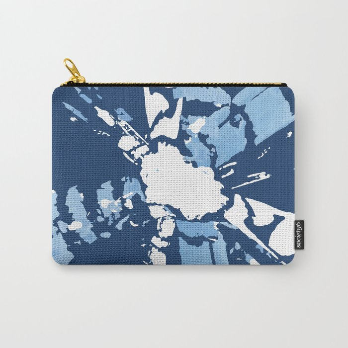 Blue Shibori tie-dye Carry-All Pouch