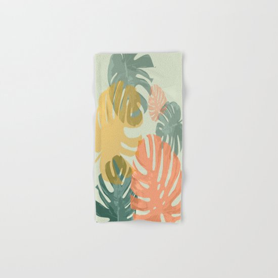 Monstera Pop Hand & Bath Towel