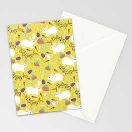 Bunnies in Spring Time Stationery Cards