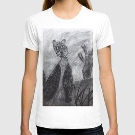 Charcoal Leopard  T-shirt