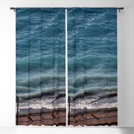 Road next to the turquoise colored sea  Blackout Curtain