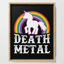 Death Metal Unicorn Serving Tray