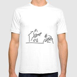 rock musician guitar headbanger T-shirt