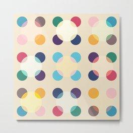 Aatxe - Colorful Decorative Abstract Dots Art Pattern Metal Print