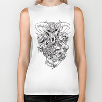 monsters Biker Tanks featuring monsters by Teenn