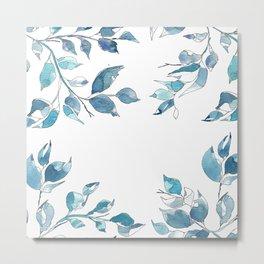 Blue leaves1 by GosiandHelena Metal Print