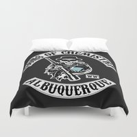 sons of anarchy Duvet Covers featuring Sons of Chemistry by I.Nova