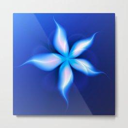 La Fleur Magique de la Sorcière Fractal Metal Print