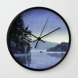 rocky cliff Wall Clock