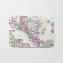 Vintage Map of Central America (1864) Bath Mat