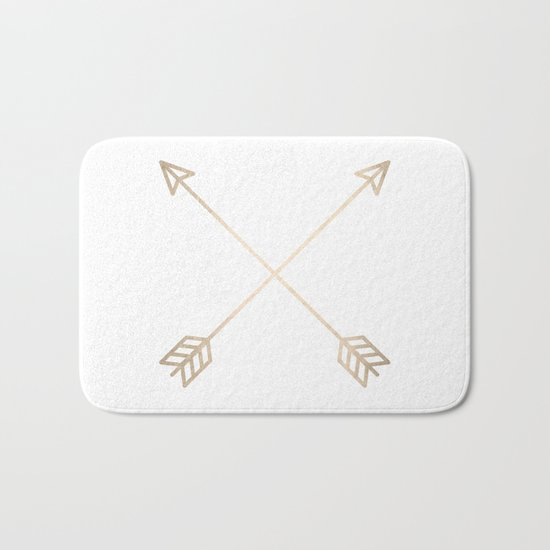 Adventure White Gold Arrows Bath Mat