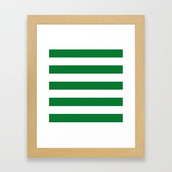 La Salle green - solid color - white stripes pattern by makeitcolorful