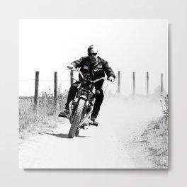 2 Wheels Move The Soul Metal Print
