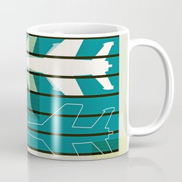 Missiles at dawn... in green! Coffee Mug