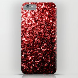Beautiful Glamour Red Glitter sparkles iPhone Case