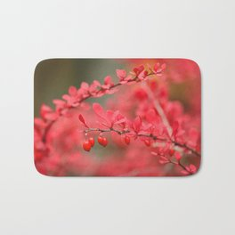 Close-up of red barberry in autumn Bath Mat