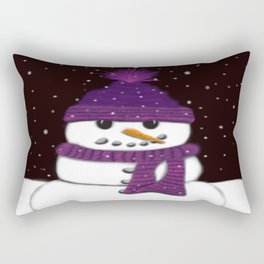 The Armless Snowman Rectangular Pillow