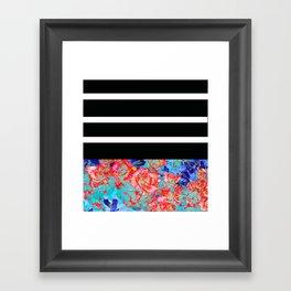 Floral Stripe II Framed Art Print