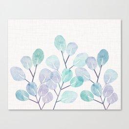 Eucalyptus / Watercolor Collage Canvas Print