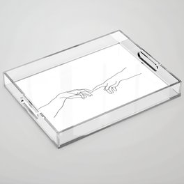 Creation of Adam Minimal Drawing Acrylic Tray