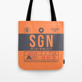 Retro Airline Luggage Tag 2.0 - SGN Ho Chi Minh City International Airport Vietnam Tote Bag