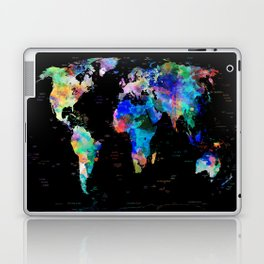 world map political watercolor Laptop & iPad Skin