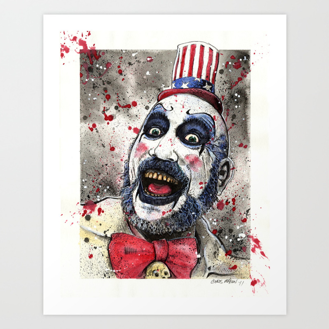 horror movies tv and people art prints society6