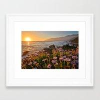 big sur Framed Art Prints featuring Big Sur by Chris Flores
