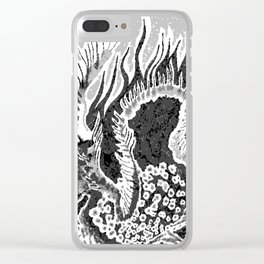 greyscale dragon Clear iPhone Case