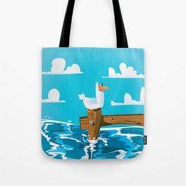Cute Seagull Cartoon. Tote Bag