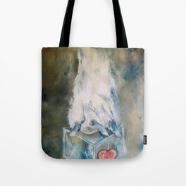 Large Wall Art DOG PAW brown painting Dog Painting Paws realistic wall art Tote Bag