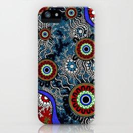 Aboriginal Art – Camping iPhone Case