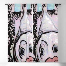 Lipstick on a Pig Denim Tones Blackout Curtain