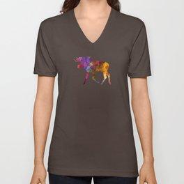 Moose 02 in watercolor Unisex V-Neck