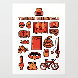 Trainer Essentials Art Print