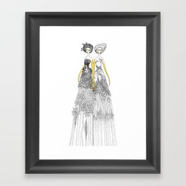 Sisters of nature Framed Art Print