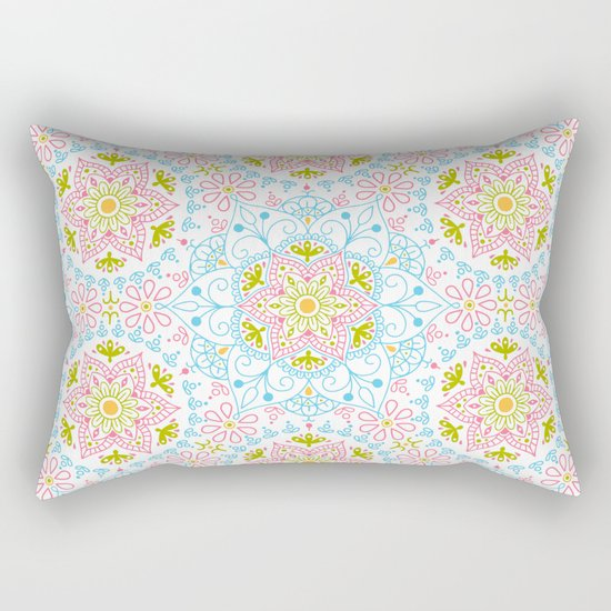 Mandala_ Spring Blue Sky Rectangular Pillow