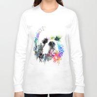 shih tzu Long Sleeve T-shirts featuring Shih TZU  by PhotosbySN