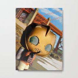 The Rocketeer at the Golden Bridge (USA) Collage Pop! Toy Photography Metal Print