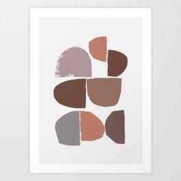 minimalist collage 06 Art Print