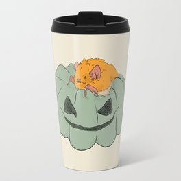 Little bat on a pumpkin Travel Mug