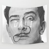 salvador dali Wall Tapestries featuring Salvador Dali by Earl of Grey