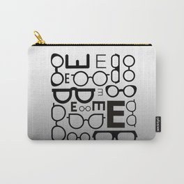 Eye Chart eyeglasses gray glasses Carry-All Pouch