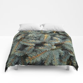 Evergreen Tree Pattern (Color) Comforters