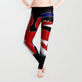 British Lion Silhouette On Union Jack Flag Leggings