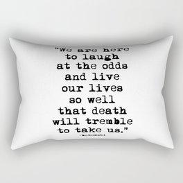 Charles Bukowski Typewriter Quote Laugh Rectangular Pillow