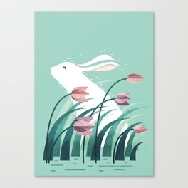 Rabbit, Resting Canvas Print