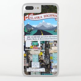 Watson_Lake Sign-Post Forest, YT, Canada Clear iPhone Case