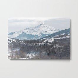 Etna volcano Metal Print