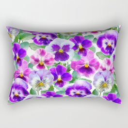Bouquet of violets II Rectangular Pillow